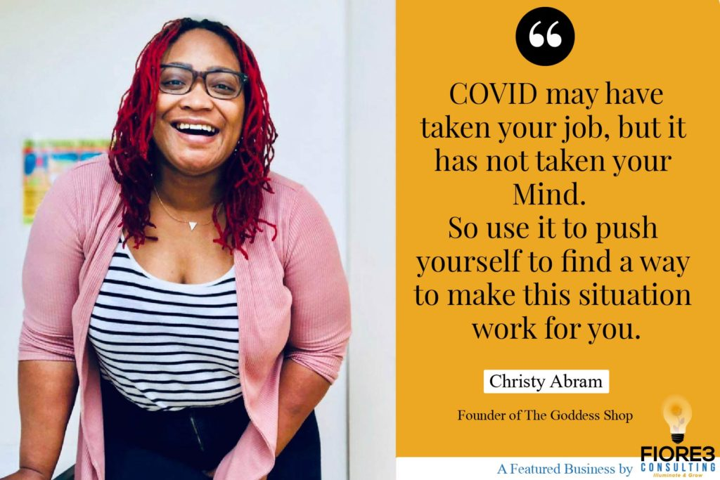 Fiore3 Consulting COVID Survival Stories- Christy Abram Quote