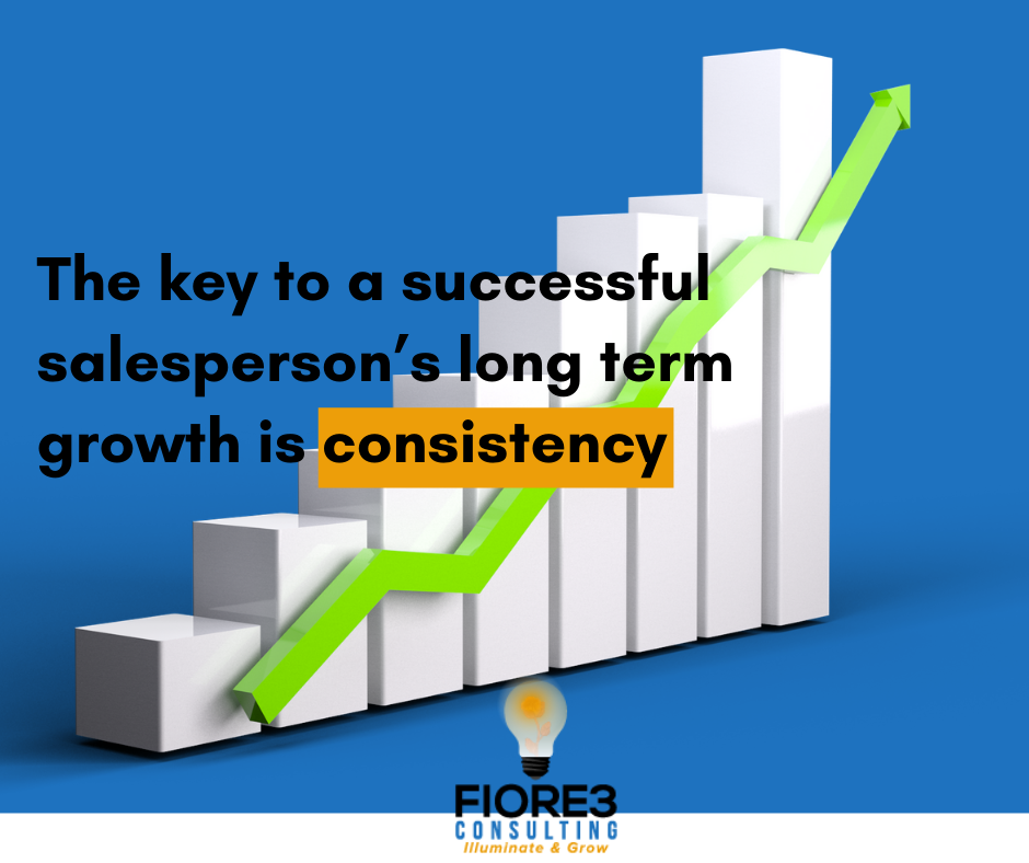 The key to a successful salesperson's long term growth is consistency