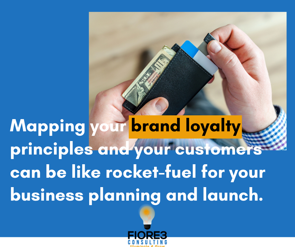 Mapping your brand loyalty principles and your customers can be like rocket-fuel for your business planning and launch.