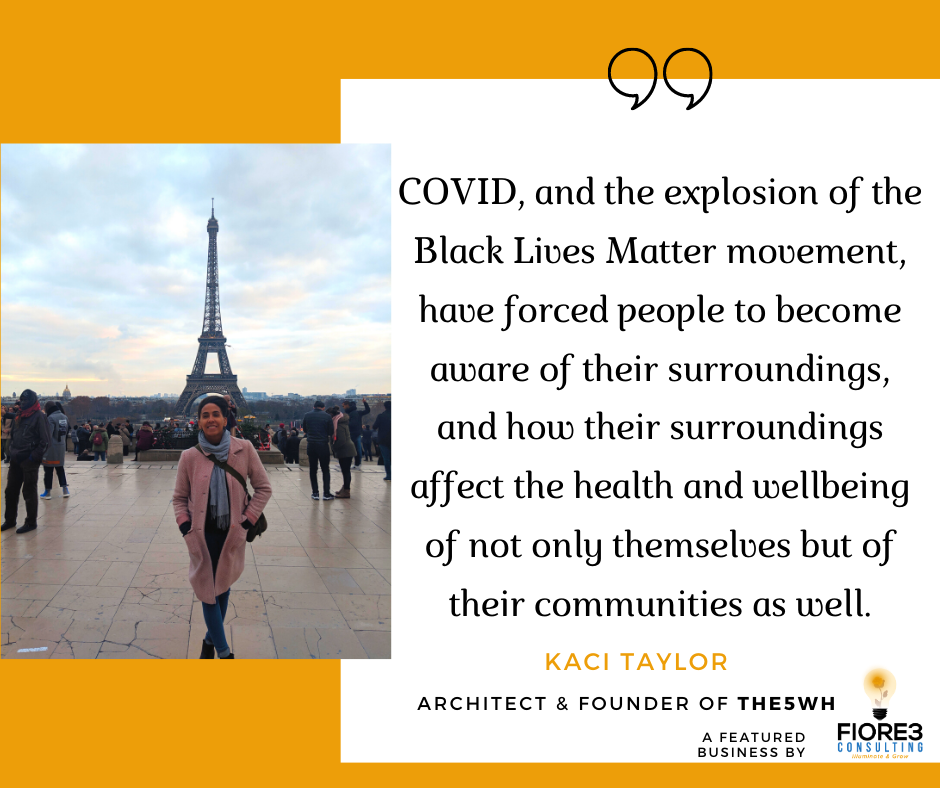 Kaci Taylor architect & founder views about covid